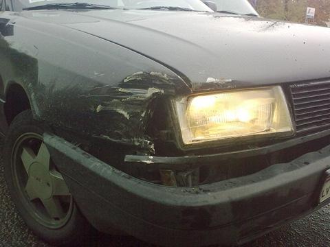 Audi 1.8 S, Первая авария
