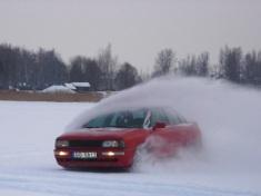 Audi QUATTRO sarkanas krāsā, 1989