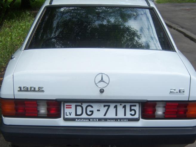 Mercedes-Benz 190 automats, 1989