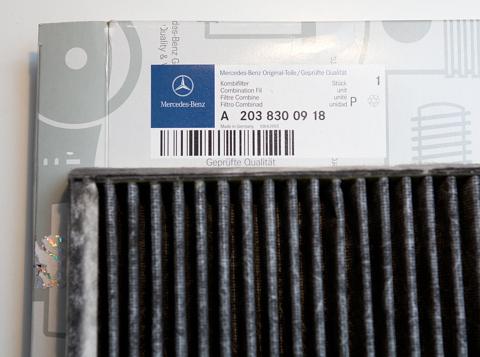 Mercedes-Benz C 270 CDI Sudrabs, Salona gaisa filtra maiņa Mercedes-Benz C270