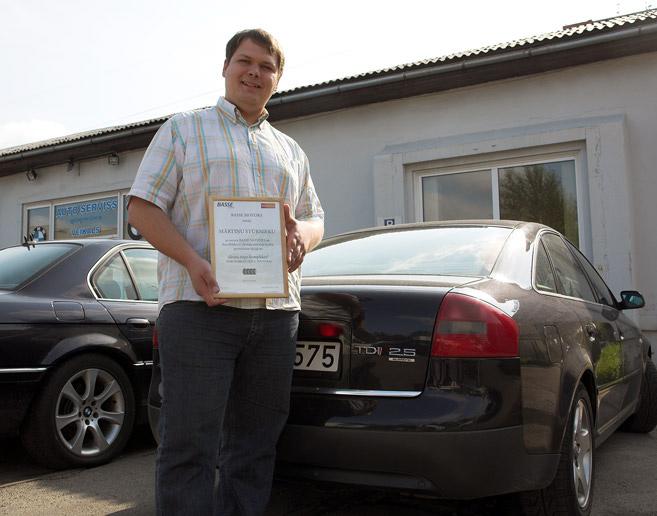 Bedru akcijas uzvarētājs Mārtiņš Stūrnieks